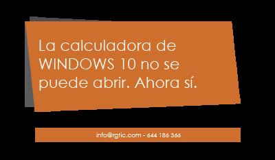 No puedo abrir la calculadora de Windows